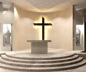 Así lucirá el altar después de la remodelación.  - Suministrada/GENTE DE CAÑAVERAL