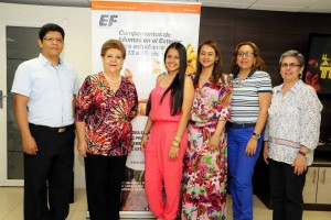 Holbel Méndez, Doris Sarmiento, Valentina Pinto, Mónica Lucía Cárdenas, Sandra Moreno y Gloria Mantilla. - Suministrada/GENTE DE CAÑAVERAL