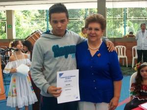 Diego Pinzón fue el otro joven que sobresalió por sus resultados en la prueba nacional de Física. - Suministrada/GENTE DE CAÑAVERAL