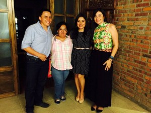 Jaime Acosta, Gilma Rodríguez, Andrea Acosta y Elsa Torres.  - Suministrada/GENTE DE CAÑAVERAL