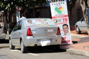 En los últimos días se ha evidenciado que los carros que más infringen la norma son los que llevan publicidad política.  - Archivo/GENTE DE CAÑAVERAL