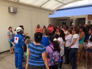 Los residentes de los  conjuntos residenciales se organizaron desde muy temprano para participar en la jornada nacional de evacuación.   - Suministrada/GENTE DE CAÑAVERAL