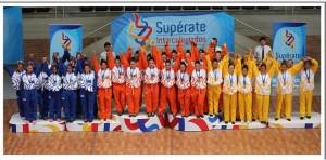 El grupo de porrismo del colegio Nuestra Señora del Rosario se destacó en la competencia nacional.  - Suministrada/GENTE DE CAÑAVERAL