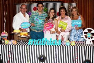 Carlos Alberto Sampedro, Alberto Cadena, María Patricia Sampedro de Cadena, Mariela de Cadena y Patricia de Sampedro. - Suministrada/GENTE DE CAÑAVERAL