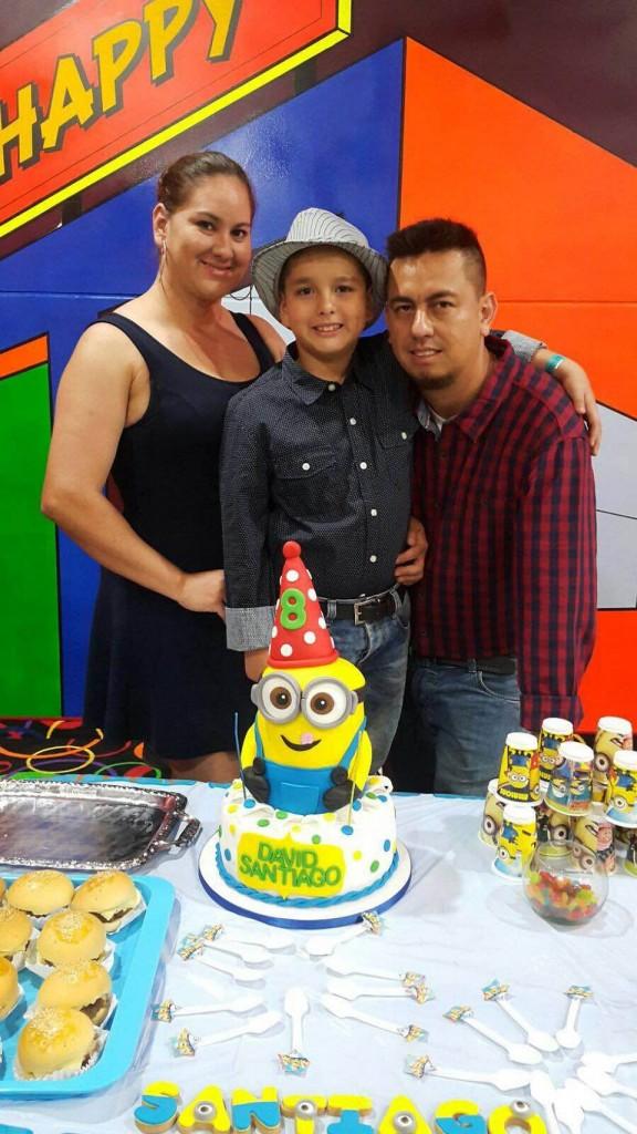Genny Marcela Mantilla, David Santiago Vega Mantilla y Alejandro Vega Gómez. - Suministrada/GENTE DE CAÑAVERAL