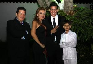 Darío Tamayo González, Leidy Viviana Mojica Peña, Carlos Arturo Tamayo y Andrés Felipe Tamayo. - Didier Niño/GENTE DE CAÑAVERAL