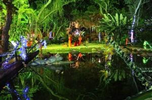 En años anteriores, el jardín botánico era embellecido con luces.  - Suministrada/GENTE DE CAÑAVERAL