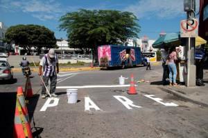 Durante estos días se han hecho campañas informativas y se demarcaron las vías para que los conductores estén alerta a la hora de transitar por la zona. - Javier Gutiérrez /GENTE DE CAÑAVERAL