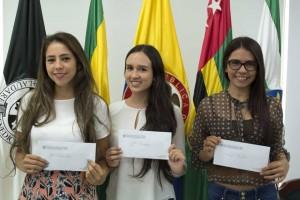 Diana Milena Díaz Jaimes, Sara Lucía Pineda y Estefany Alexandra Castro Torres. - Suministrada/GENTE DE CAÑAVERAL