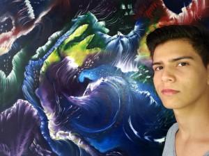 Jonathan Salazar Bernal realizó su primer curso de pintura en la Casa de la Cultura de Floridablanca y ahora expone su obra 'Arte Contemporáneo 2016'. - Suministrada/GENTE DE CAÑAVERAL