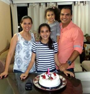 Viviana Rangel, Valeria Barbosa Rangel, Luciana Barbosa Rangel y Jorge Barbosa.  - Suministrada/GENTE DE CAÑAVERAL