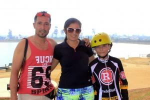 Ángel Mauricio González, Carolina Olivar y Ángel David González. - Fabián Hernández /GENTE DE CAÑAVERAL