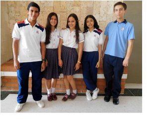 Los cinco estudiantes de la Fundación Colegio UIS participarán el 17 de mayo en la fase final de las Olimpiadas Colombianas de Ciencias.   - Suministrada/GENTE DE CAÑAVERAL