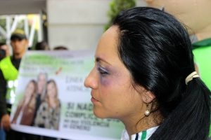 La Policía habló con los ciudadanos sobre el maltrato a la mujer e hizo un llamado para que se denuncien estos casos.  - Fabián Hernández /GENTE DE CAÑAVERAL
