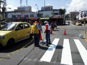 Actualmente las autoridades realizan la demarcación vial en el sector de Cañaveral y posteriormente continuarán con otros sectores del Municipio.  - Suministrada/GENTE DE CAÑAVERAL