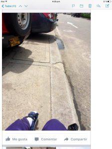 La denuncia señala que no hay acceso para discapacitados y que los andenes están en mal estado.  - Suministrada/GENTE DE CAÑAVERAL