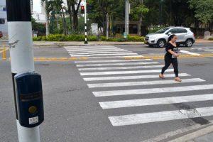 El semáforo está ubicado en la carrera 25 con calle 30 de Cañaveral.  - Jaime Del Río / GENTE DE CAÑAVERAL