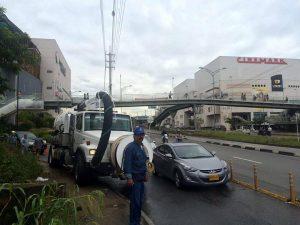 Empas ha atendido algunas emergencias que se han registrado debido al taponamiento de alcantarillados. - Suministrada/GENTE DE CAÑAVERAL