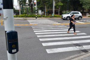 Los peatones hacen un llamado a la Dttf para que se revise el funcionamiento del semáforo que está cerca al CAI.  - Archivo/GENTE DE CAÑAVERAL