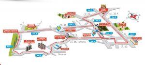 Estas son las vías donde habrá paso restringido desde las 9:00 a.m. y hasta las 11:00 a.m. aproximadamente. - Suministrada/GENTE DE CAÑAVERAL