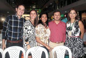Rafael Acevedo, Isabela Andrea Díaz, Claudia Patricia Picón, César Agudelo y Martha Leyder.  - Javier Gutiérrez/GENTE DE CAÑAVERAL