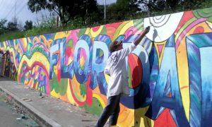 En el mural de TCC se plasmó el nombre de Floridablanca.   - Suministrada/ GENTE DE CAÑAVERAL