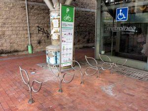 Los biciparqueaderos están ubicados en las estaciones del Metrolínea.  - Suministrada /GENTE DE CAÑAVERAL