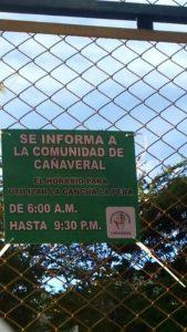 Los ciudadanos esperan que los horarios de uso de la cancha se cumplan y terminen los desórdenes.  - Archivo/GENTE DE CAÑAVERAL
