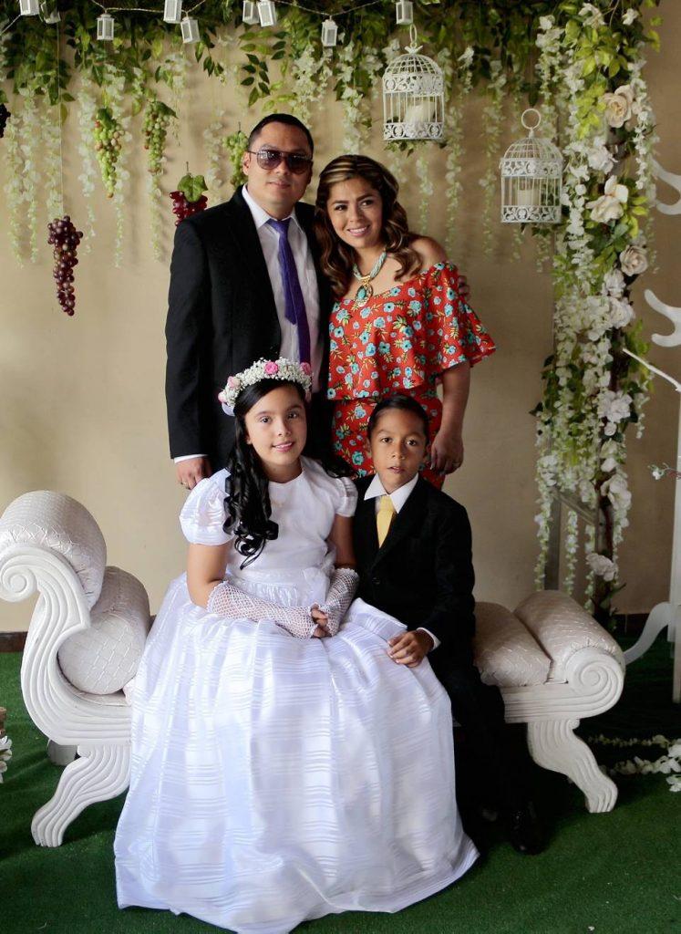 Efraín Mendoza, Ximena Pinilla, Valerie Mendoza Pinilla y  Efraín Santiago Mendoza Pinilla. - Fabián Hernández /GENTE DE CAÑAVERAL