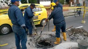 Para estos trabajos se necesitó parte de la vía por lo que la semana pasada se registraron algunos trancones. - Suministrada/GENTE DE CAÑAVERAL