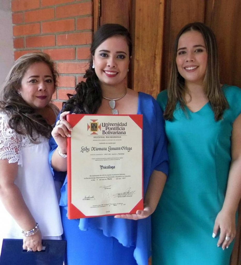 Nancy Rocío Ortega Duarte, Leidy Xiomara  Lieman Ortega e Ingrid Katherine Lieman Ortega. - Suministrada/GENTE DE CAÑAVERAL