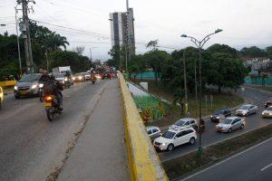 En el intercambiador de 'Papi quiero piña' se presentan congestiones vehiculares continuamente. - Suministrada/GENTE DE CAÑAVERAL