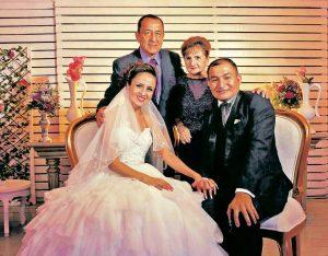 Ramón Orlando Bayona Cortés y Carol Melisa Cáceres Herrera, Hernando Cáceres y Marlene Herrera. - Suministrada/GENTE DE CAÑAVERAL