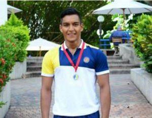 Juan David Almarales obtuvo recientemente una destacada participación en el Tercer Torneo Internacional de Waterpolo.  - Suministrada/GENTE DE CAÑAVERAL