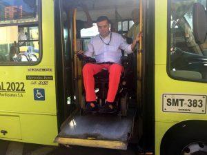 Los buses acondicionados para las personas con discapacidad cuentan con rampas y ascensores.  - Suministrada/GENTE DE CAÑAVERAL