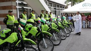 Con las motocicletas se busca mejorar la vigilancia en los diferentes sectores del municipio.  - Suministrada/GENTE DE CAÑAVERAL