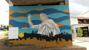 Artistas  de la casa de la cultura Piedra del Sol son los encargados de embellecer los puentes y muros.   - Suministrada /GENTE DE CAÑAVERAL