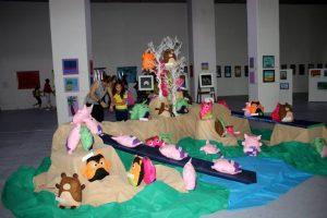 La exposición forma parte del Primer Encuentro Cultural y Artístico organizado por los colegios Aspaen Bucaramanga. - Suministrada/ GENTE DE CAÑAVERAL