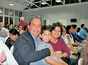 Saúl Fernando Melchiore, Juan Fernando Melchiore Quintero y Claudia Marietta Quintero.  - Suministrada /GENTE DE CABECERA