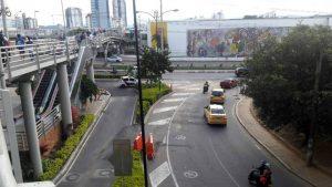 El paso vehicular por la vía que comunica a Lagos con la autopista, entre Telebucaramaga y Caracolí, será suspendido.   - César Flórez/GENTE DE CAÑAVERAL