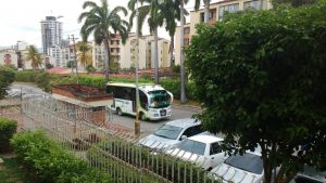 Según la queja, los buses generan molestias a la comunidad con el ruido y la emisión de gases.  - Suministrada/GENTE DE CAÑAVERAL