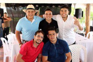 Emiro Castro, Rodolfo Cañas, Nicolás Contreras, Óscar Arenas y Álvaro Rueda.  - Suministrada/GENTE DE CAÑAVERAL