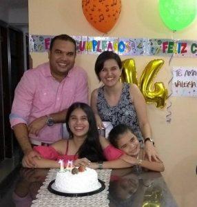 Suministrada/GENTE DE CAÑAVERAL  Jorge Barbosa, Valeria Barbosa, Viviana Rangel y Luciana Barbosa.