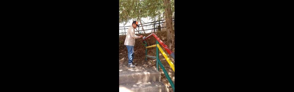 Adelantan  restauración de la cancha La Pera
