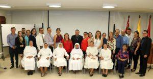 Rector de la Universidad Pontificia Bolivariana y rectores de colegios del área metropolitana pertenecientes a Conaced. - Suministrada/GENTE DE CAÑAVERAL