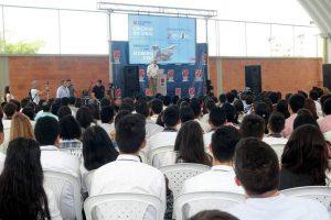 Estudiantes de diferentes colegios públicos y privados de Colombia participaron en el Congreso Nacional de Líderes Estudiantiles, que se cumplió en el Nuevo Cambridge.  - Fabián Hernández /GENTE DE CAÑAVERAL