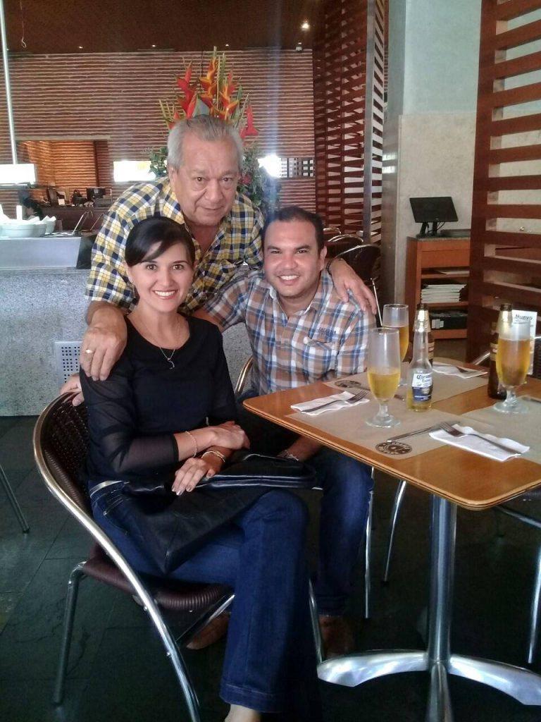 Viviana Rangel, Pedro Rangel y Jorge Luis Barbosa.  - Suministrada/GENTE DE CAÑAVERAL