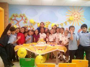 Compañeritos y amigos de primer grado de Luciana Barbosa Rangel.  - Suministrada/GENTE DE CAÑAVERAL