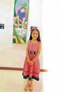 Natalia Celine Leal Vesga es un escritora de cuentos de 7 años de edad.  - Élver Rodríguez/ GENTE DE CAÑAVERAL