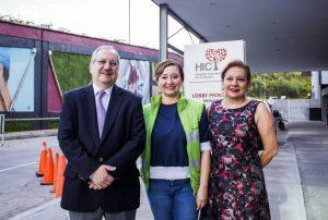 Víctor Castillo, presidente de la FCV; Laura Rodríguez, gerente de Metrolínea; y Lina Chaparro, directora administrativa y financiera del HIC - Suministrada/GENTE DE CAÑAVERAL